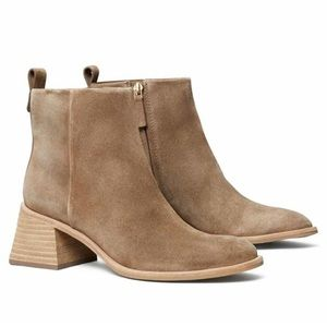 New Tory Burch Casual Zip Up Booties River Rock